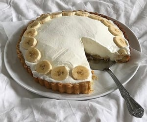 food, banana, and cake image