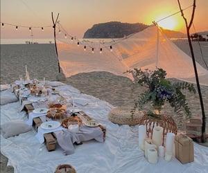 sunset and beach image