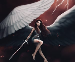 angel, awesome, and dark image