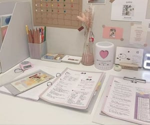 aesthetic, study, and pink image