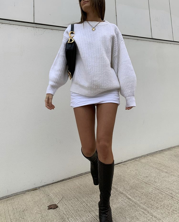 puff sleeves, knee high boots, and fashionista fashionable image