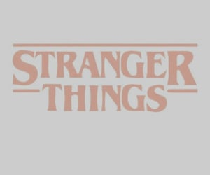 stranger things, pink, and aesthetic image