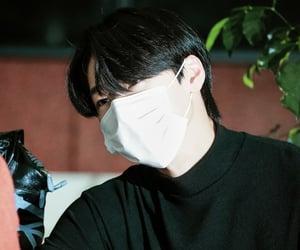 black hair, choi san, and ateez image