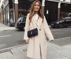 brown hair, clothes, and coat image