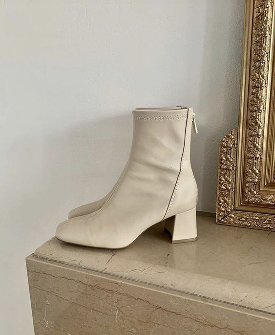 fashion, beige, and boots image