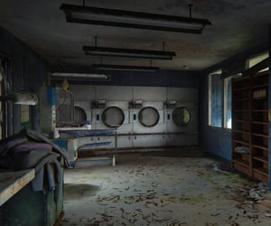 abandoned, machines, and dry cleaners image