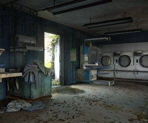 abandoned, clothes, and deserted image