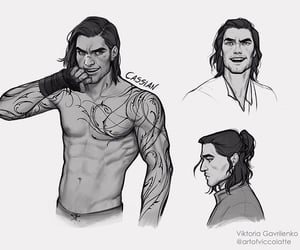 cassian, acotar, and acomaf image