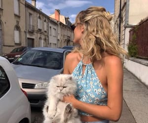 cats, girl, and street style image
