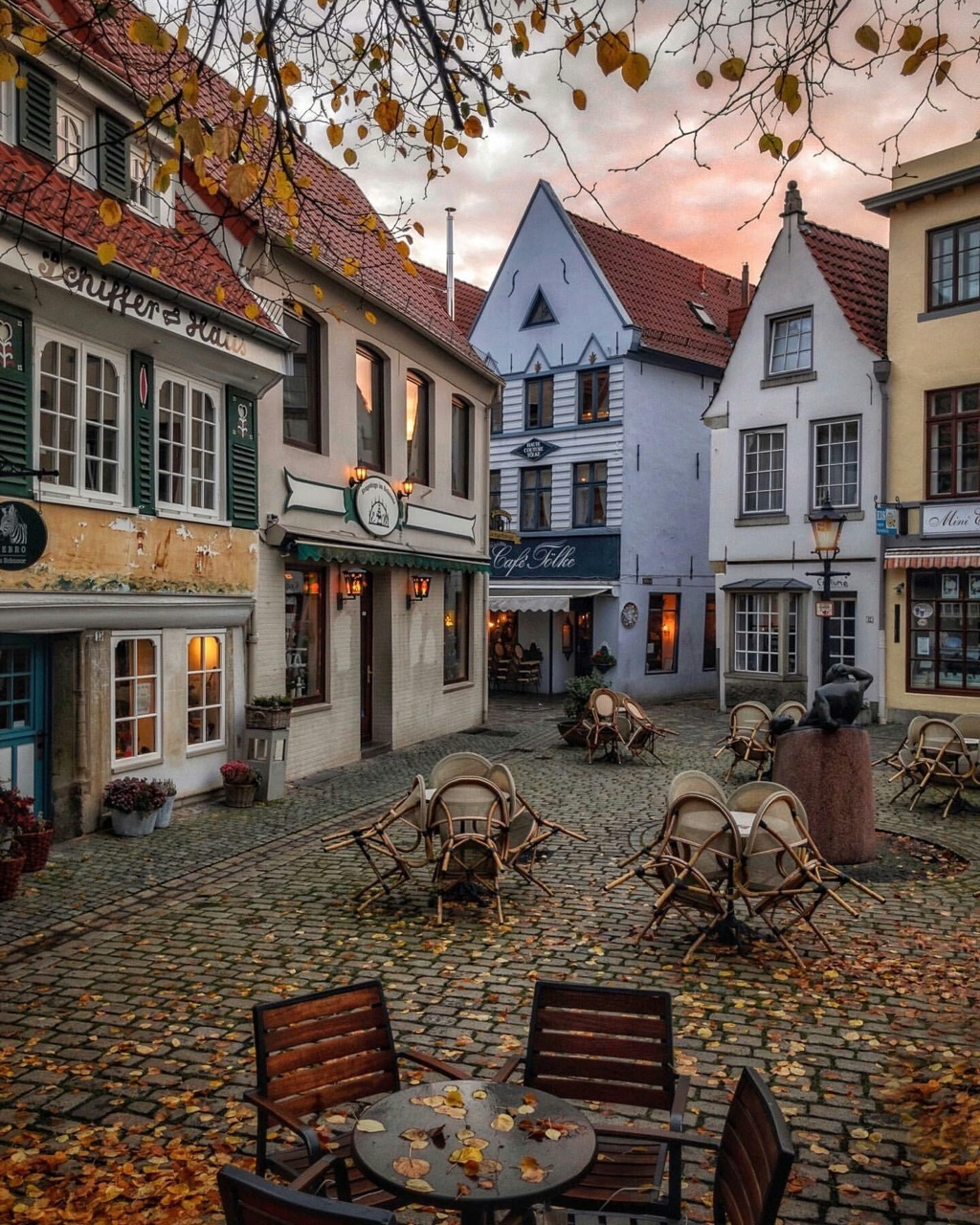 city, autumn, and germany image