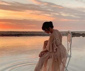 beauty, dress, and nature image