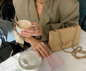 coffee, girl, and fashion image