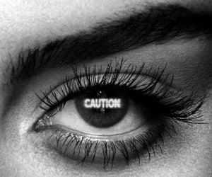 aesthetic, black & white, and eye image