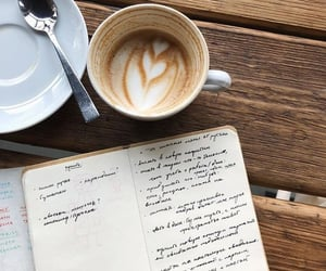 cappuccino, note, and notebook image