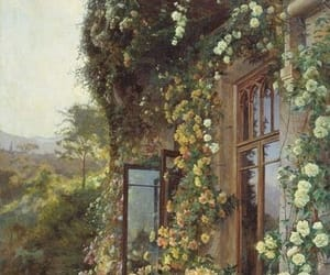 aesthetic, flowers, and windows image