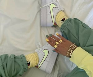 chic, green, and rich image