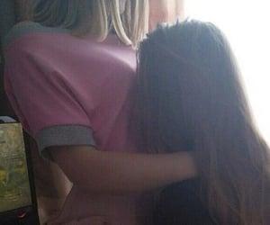 girls, lesbian, and couple image