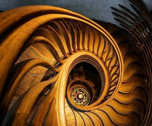 architecture, brown, and stairway image