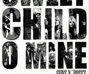 guns and roses, music, and words image