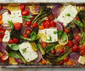 Sheet-Pan Baked Feta With Broccolini, Tomatoes and Lemon