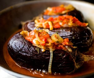 eggplant, tomato, and turkish food image