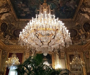 art, beauty, and chandelier image