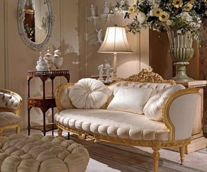 luxury, interior, and flowers image