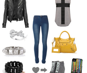 bag, chains, and girly image
