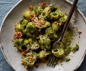 pasta, pesto, and broccoli walnut image
