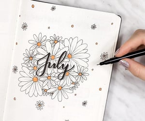 bullet journal, art, and july image