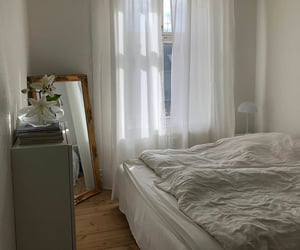 bedroom, cozy, and minimalist image