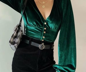emerald, fashion, and green image