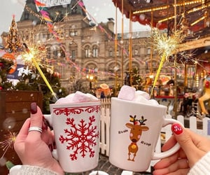 moscow, christmas, and marshmallow image