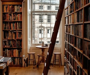 aesthetic, bookshelf, and edinburgh image