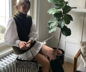 puff sleeves, knee high boots, and everyday look image