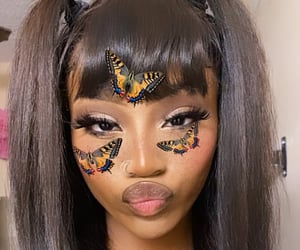 beauty, butterflies, and fashion image