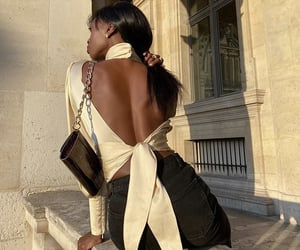 puff sleeves, parisian style, and backless top image