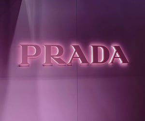 luxury, neon, and Prada image