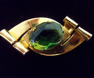 sterling silver, designer signed, and faceted glass image