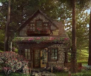 cottage, house, and aesthetic image