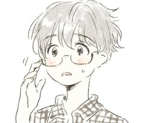 anime, boy, and glasses image