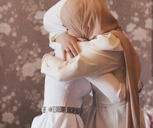friends friendship, hijab, and muslim image
