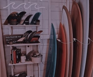 surfing board and vintage aesthetic image