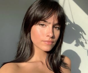 bangs, light, and model image