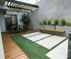 backyard, pasto, and madera image
