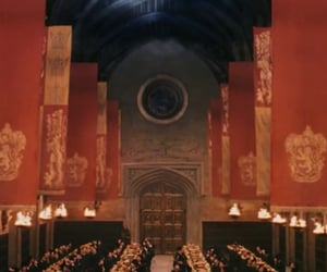gryffindor, great hall, and harry potter image