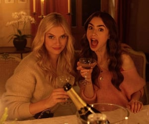 actress, bff, and champagne image