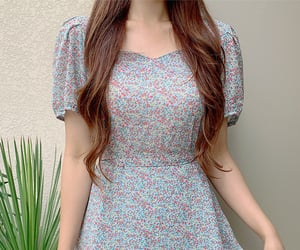 asian fashion, dress, and flower image