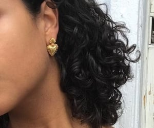 aesthetic, curly hair, and earrings image