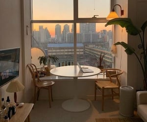 home, interior, and sunset image